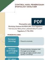 1. Qc Hematology Analyzer