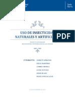 USO DE INSECTICIDAS NATURALES Y ARTIFICIALES