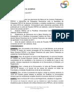 Resolución N° 1 2017-2/JF-FEPUC