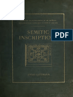Semitic Inscriptions