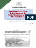 Presupuesto Nacional de La Republica 2017