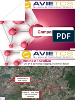 Business Profile Presentation of  Avie Training and Consultancy Services
