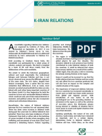 Pak-Iran Relations (Seminar Brief)