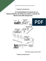 2 - Trabalho Computacional - Avaliação Da Confiabilidade de Um SEP - G&T