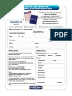 Llr Subscription Form 2018