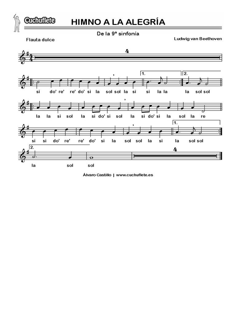 Himno Alegria Largo Con Letra