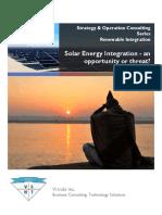 Solar Energy Development an Opportunity or Challange Draft Final