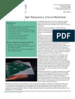 RO4000 Laminates - Data Sheet and Fabrication Guidelines RO4003C , RO4350B
