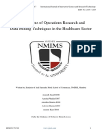 Applications of Operations Research and Data Mining Techniques in the Healthcare Secter 2