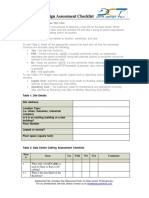 Datacenter Design Assessment Checklistv2.1