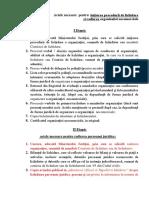 Documente necesare lichidării organizației