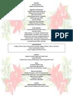 Menu - Christmas Eve Dinner Buffet