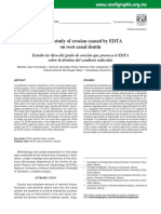 Erosi in Vitro Study of Erosion Caused by EDTA