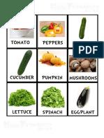 vocabulary - food - vegetables