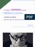 Sreenath 39 Philip Johnson