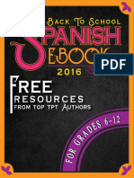 Spanish Back to School Secondary e Book Tips and Free Resources