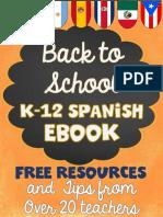 BacktoSchoolSpanishEbookTipsandFREEResourcesfromover20Teachers
