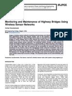 Monitoring and Maintenance of Highway Bridges Using Wireless Sensor Networks