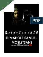 TUMAHOLE MOELETSANE-Relationship BOOK