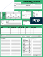 2nd Edition Style Character Record Sheet (Classic Green)