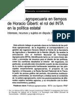 Gargano, Cecilia - La Cartera Agropecuaria en Tiempos de Horacio Giberti