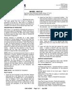 Singer Valve 106 206 F Type 4 IOM Operation Guide
