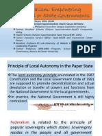 Federalism-Parliamentary System