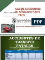 Estadisticas de Accidentes Peru