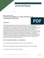 Calculo Estructural Del Buque_ Procesos de Soldadura y Cortes Utilizados en La c