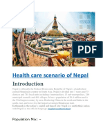 Health Care Scenario of Nepal Hospaccx Healthcare Consultancy
