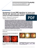 Development of novel BMIP algorithms for human eyes affected with glaucoma and hardware implementation using VLSI based embedded systems