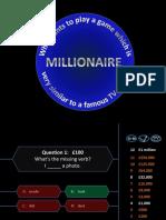 Millionaire Verbs
