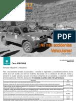 Reflexión Con Valor - No Más Accidentes Vehiculares - 31 de Marzo de 2017