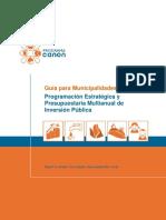 Programacion Estrategica y Presupuestaria - CANON