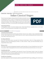 Culturalindia Net Indian Music Classical Singers
