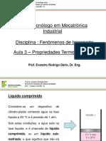 Termodinâmica - Aulas 3 - Propriedades termodinâmicas.pptx