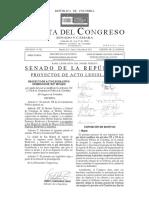 Gaceta Del Congreso de La República Senado y Cámara Número 582