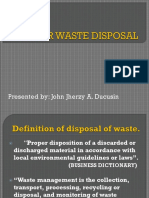 Proper Waste Disposal