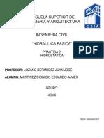 Practica 2 Hidraulica ESIA ZACATENCO