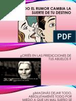 Presentación de Un Cuento de Garcia Márquez