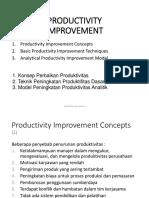 Kuliah 6 Productivity Improvement