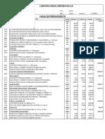 Analisis Costos Unitarios Vivv
