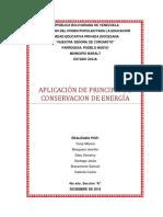 Trabajo Aplicacion de Principio de Conservacion de Energia