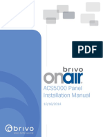 Brivo OnAir ACS5000 Panel Installation Manual 2