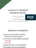 Delirium in Critically Ill
