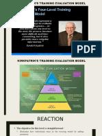 Kirkpatrik's Training Evaluation Model