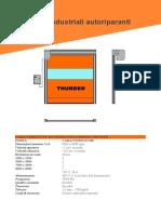 Caratteristiche Tecniche Porta Rapida Thunder