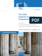 Greece's ESM Programme - 1st & 2nd review evaluation [EU Commission]