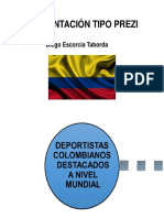 Presentación Deportistas Colombianos - Power Point Estilo Prezi