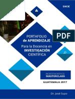 Portafolio de Aprendizaje Para La Docencia en Investigación Científica